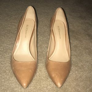 BCBG camel color heels. 7.5